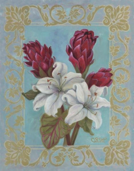 SHARI WHITE - LILIES AT THE BREAKERS - Giclée on Canvas