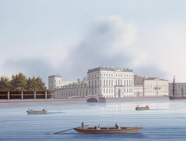 RUSSIAN SCHOOL - THE RIBASH HOUSE - Giclée on Canvas