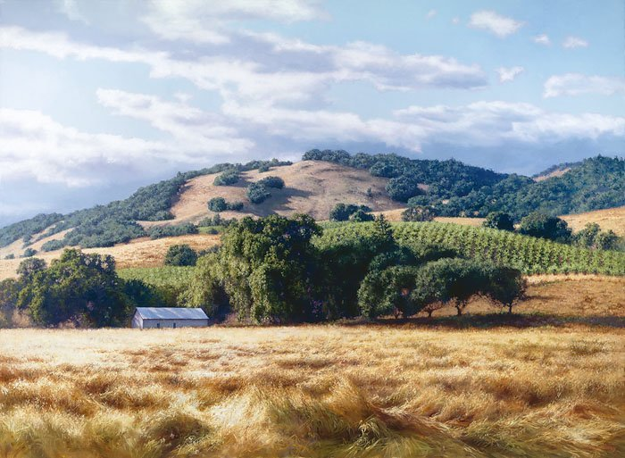 JUNE CAREY - CALIFORNIA WINE COUNTRY - HAND SIGNED