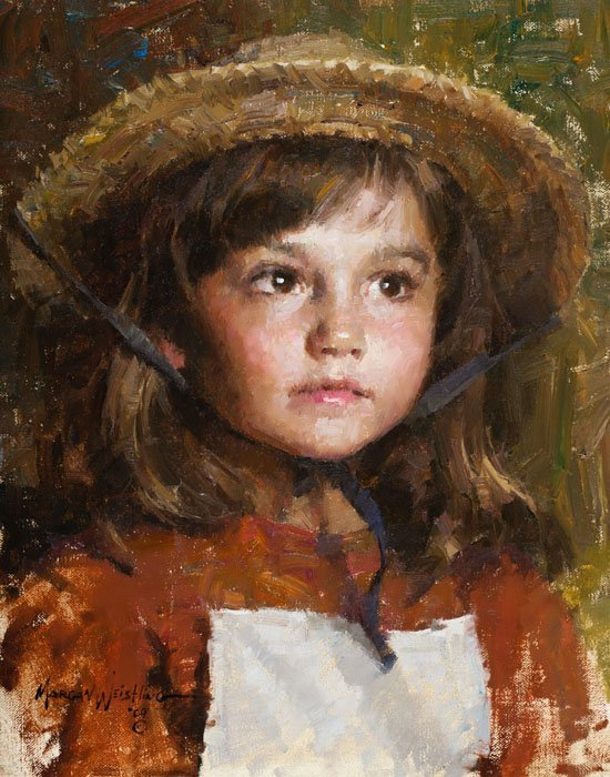 MORGAN WEISTLING - STRAW HAT - HAND SIGNED
