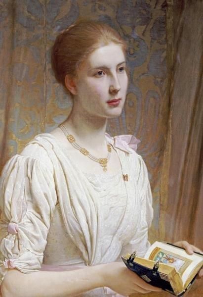 CHARLES EDWARD PERUGINI - PORTRAIT OF MISS HELEN