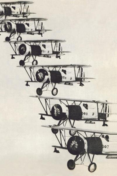 UNKNOWN - FLYING IN FORMATION - Giclée on Canvas
