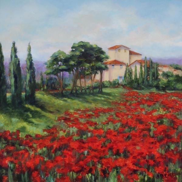 JAN E. MOFFATT - POPPIES - Giclée on Canvas