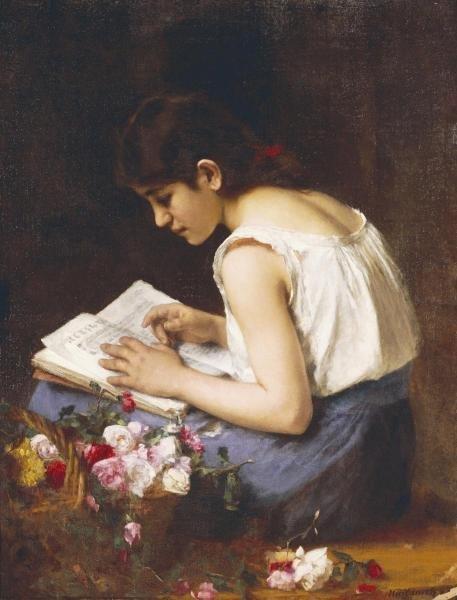 ALEXEI ALEXEIEWITSCH HARLAMOFF - A GIRL READING -