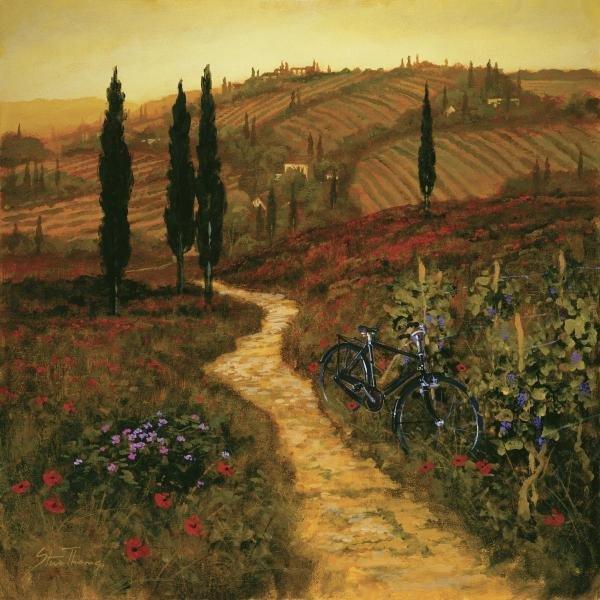 STEVE THOMS - DOWN THE LANE - Giclée on Canvas