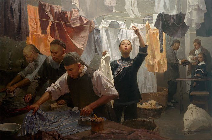 MIAN SITU - CHINESE FAMILY LAUNDRY, 1880 - HAND SIGNED