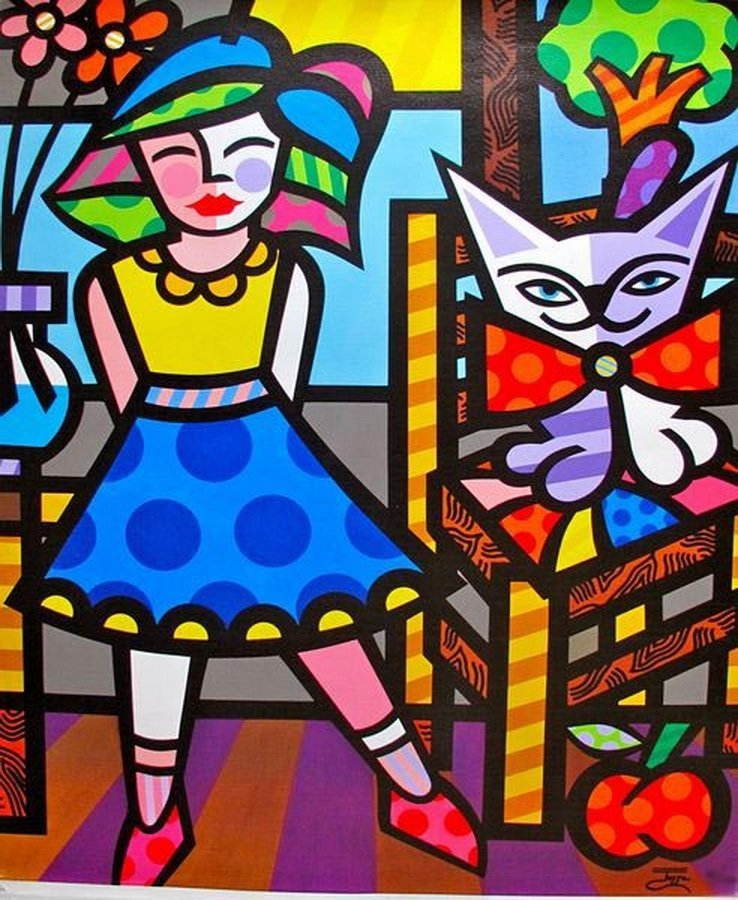 JOZZA RED APPLE HAND SIGNED GICLEE ON CANVAS
