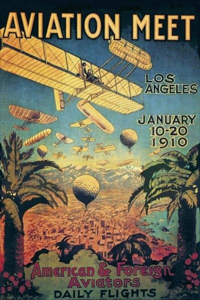UNKNOWN - AVIATION MEET IN LOS ANGELES - Giclée on