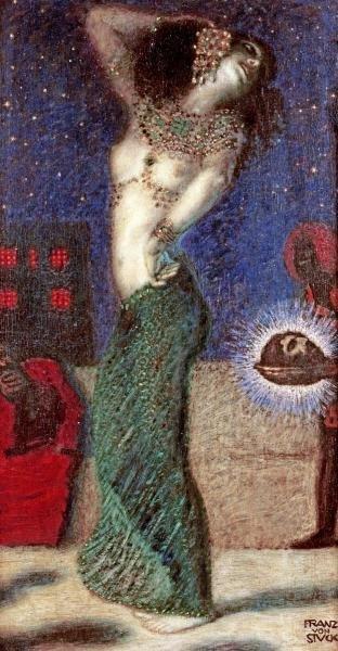 FRANZ VON STUCK - DANCING SALOME - Giclée on Canvas