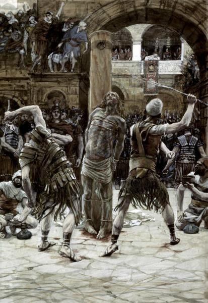 JAMES TISSOT  - SCOURGING OF THE FACE  -  GICLÉE ON