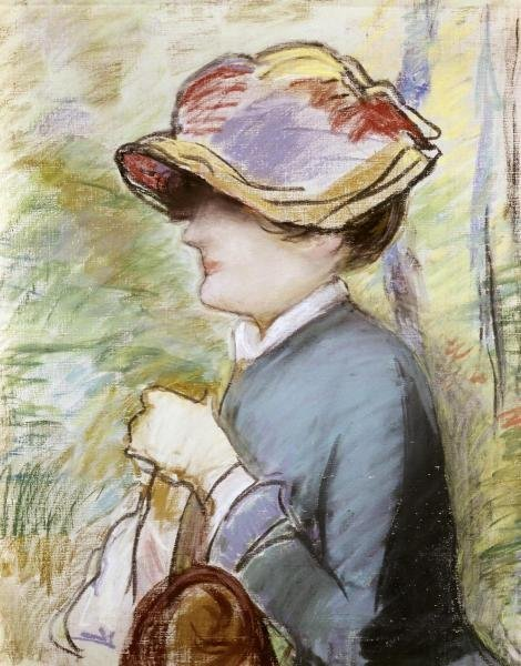 EDOUARD MANET  - YOUNG WOMAN IN A BROAD HAT  -  GICLÉE