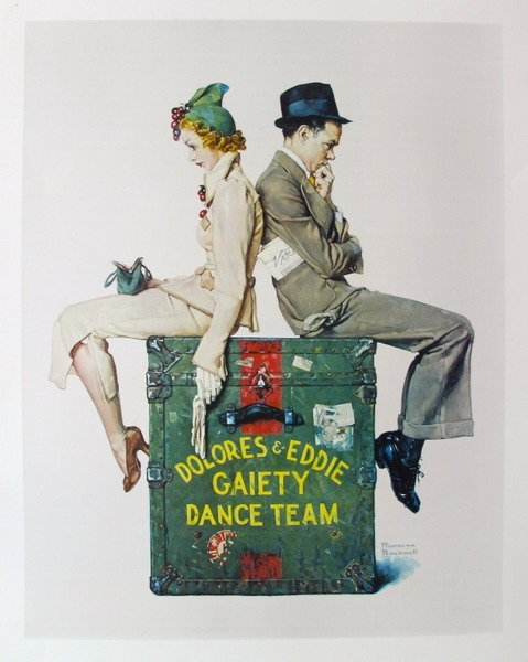 NORMAN ROCKWELL DOLORES & EDDIE GAIETY DANCE TEAM