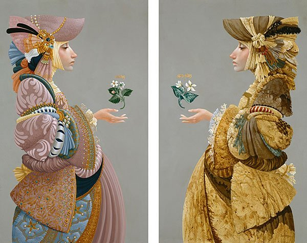 HAND SIGNED - JAMES C. CHRISTENSEN - TWO SISTERS