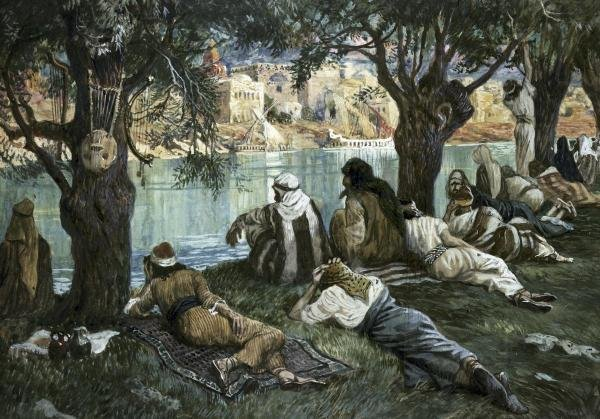 JAMES TISSOT -BY THE WATERS OF BABYLON - GICLÉE ON