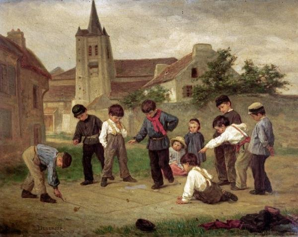 THEOPHILE EMMANUEL DUVERGER - HOPSCOTCH - Giclée on