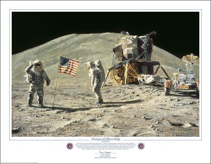 HAND SIGNED - ALAN BEAN - CEREMONY ON THE PLAIN AT