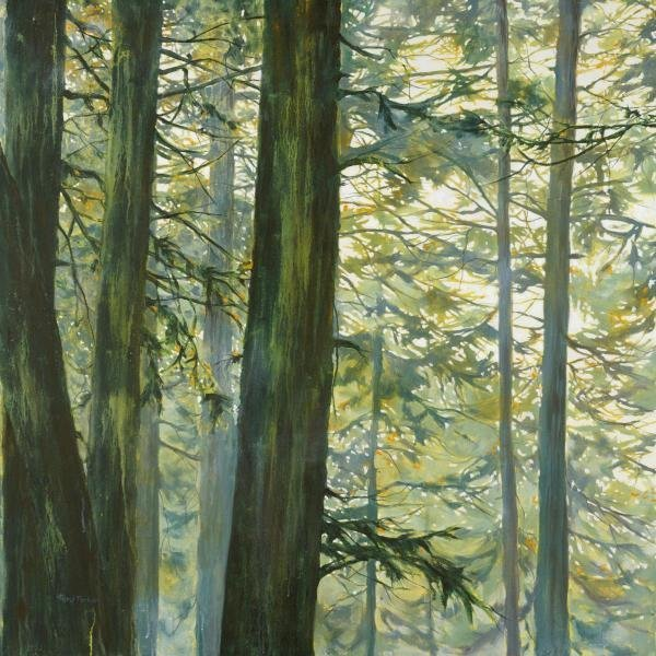 CHERYL FORTIER - TREES IN FOG II - Giclée on Canvas