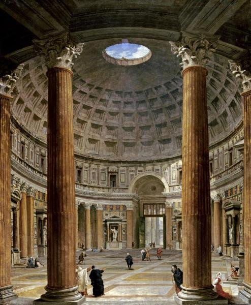 GIOVANNI PAOLO PANNINI - THE INTERIOR OF THE PANTHEON,