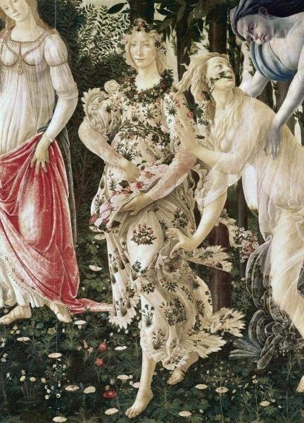 SANDRO BOTTICELLI -LA PRIMAVERA (DETAIL) - GICLÉE ON