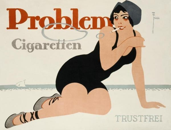 LEONHARD F. FRIES -PROBLEM CIGARETTEN - GICLÉE ON