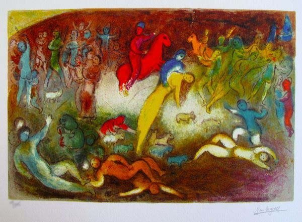 MARC CHAGALL CHLOE IS CARRIED OFF BY THE METHYMNAENS