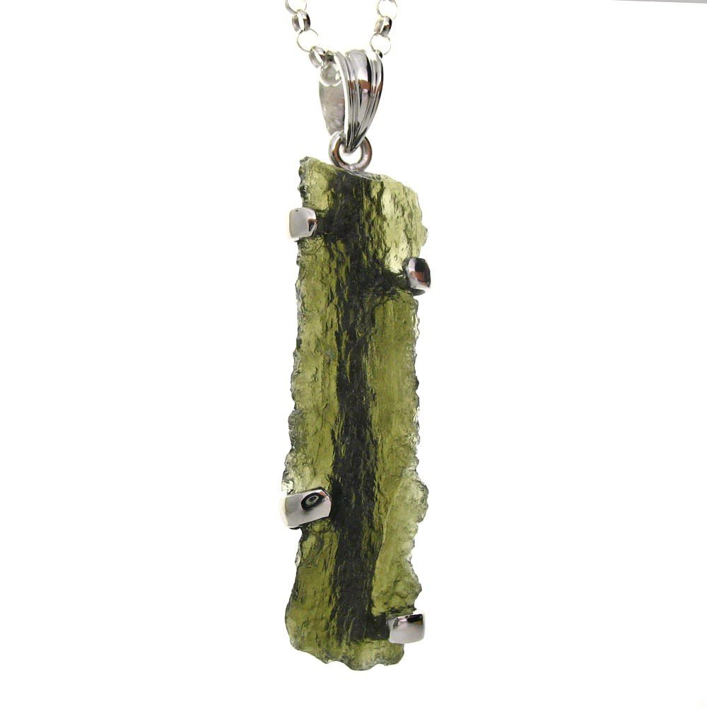LONG MOLDAVITE WITH NATURAL SURFACES