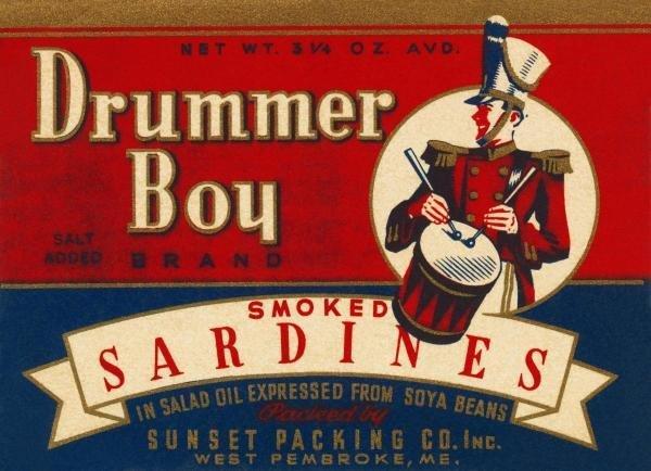 RETROLABEL -DRUMMER BOY SMOKED SARDINES - GICLÉE ON