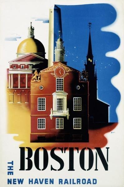 BEN NASON -NEW HAVEN RAILROAD / BOSTON - GICLÉE ON