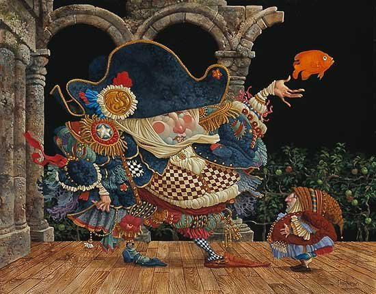 HAND SIGNED - JAMES C. CHRISTENSEN - THE GREAT
