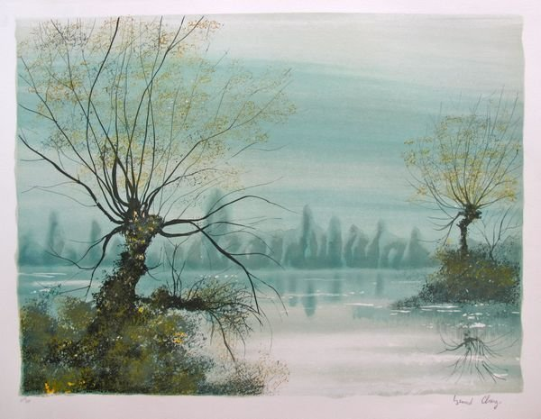 BERNARD CHAROY THE LAKE HAND SIGNED LIMITED ED.