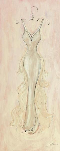 SUSAN OSBORNE  -  WHITE EVENING GOWN  -  GICLÉE ON