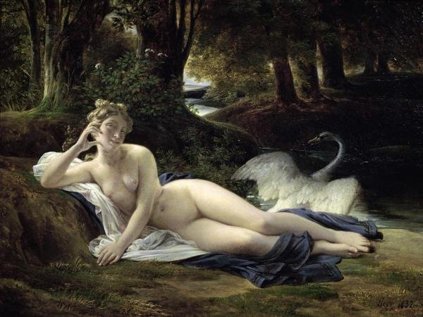 FRANCOIS EDUARD PICOT  -  LEDA  -  GICLÉE ON CANVAS