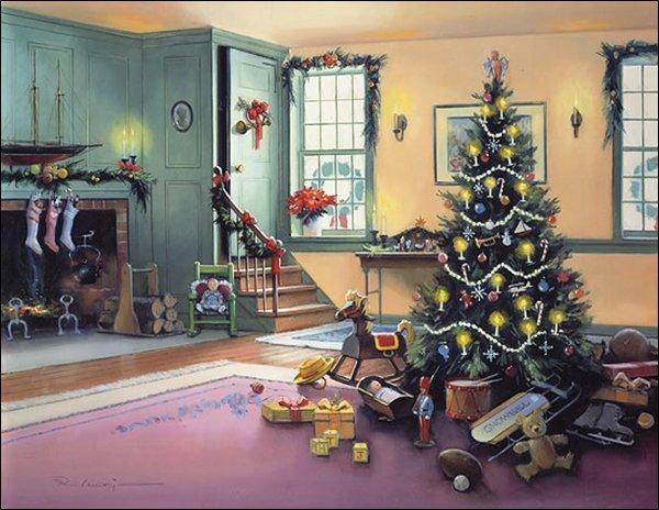 HAND SIGNED - PAUL LANDRY - A CHRISTMAS MORNING