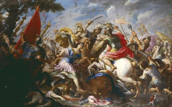ANTONIO TEMPESTA  -  THE BATTLE OF THE AMAZONS  -