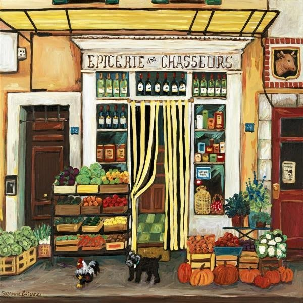SUZANNE ETIENNE  - GOURMENT SPECIALTIES  -  GICLÉE ON