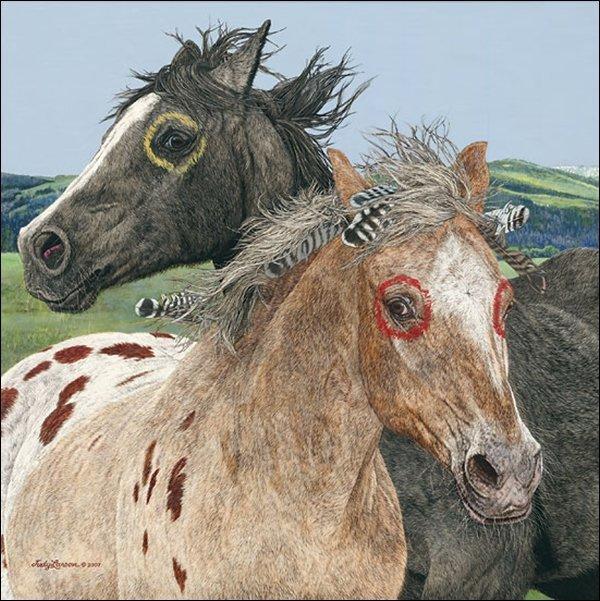 HAND SIGNED - JUDY LARSON - EBENEZER AND THE WAR HORSE