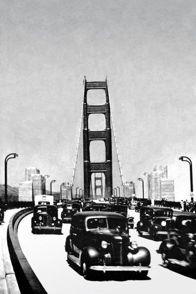 VINTAGE SAN FRANCISCO  -  THE GOLDEN GATE BRIDGE, SAN