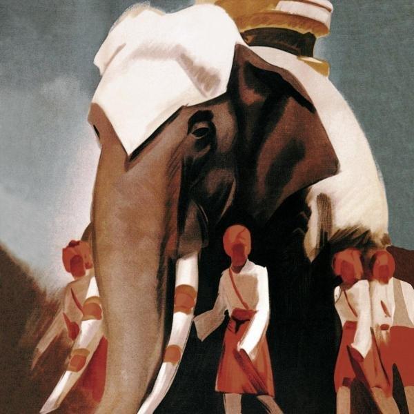 VINTAGE ELEPHANT  -  LLOYD TRIESTINO ESPRESSO ITALI