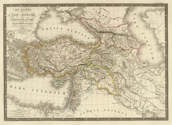 ADRIEN HUBERT BRUE -ASIE-MINEURE, ARMENIE, SYRIE,