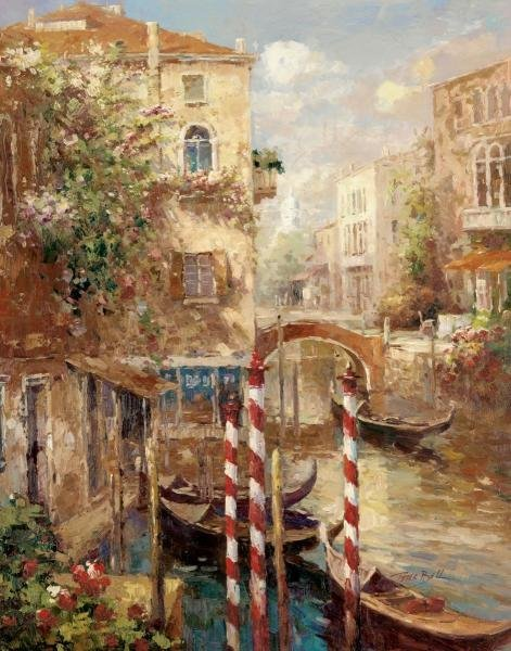PETER BELL -VENICE CANAL I - GICLÉE ON CANVAS