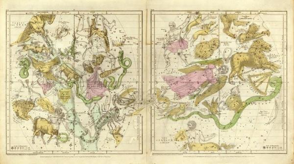 ELIJAH H. BURRITT -THE CONSTELLATIONS IN APRIL -