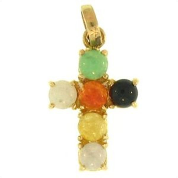 NATURAL MULTI-COLOR JADE PENDANT-GRADE A JADE