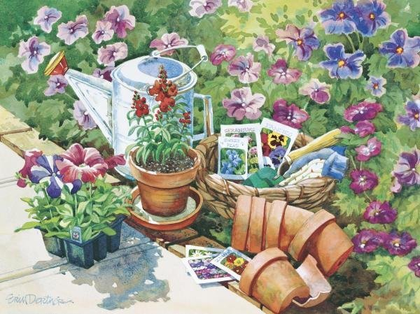 ERIN DERTNER  -  PLANTING DAY  -  GICLÉE ON CANVAS