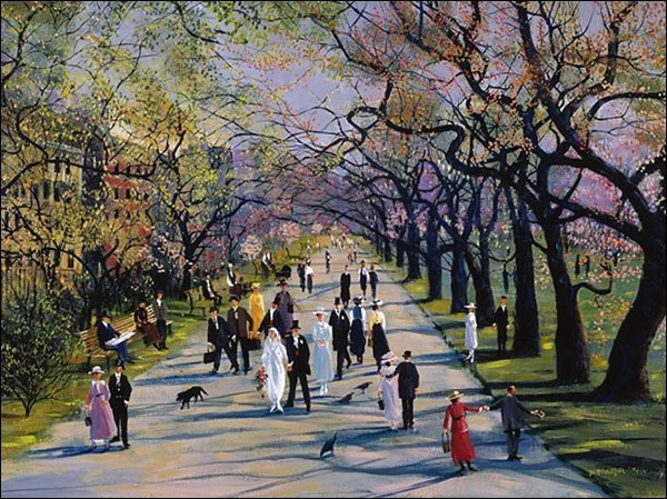 HAND SIGNED - SALLY CALDWELL FISHER - SPRING IN THE