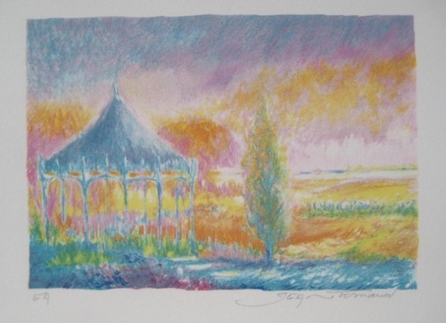 JEAN FERNAND SOLEIL LEVANT VIII HAND SIGNED LITHOGRAPH
