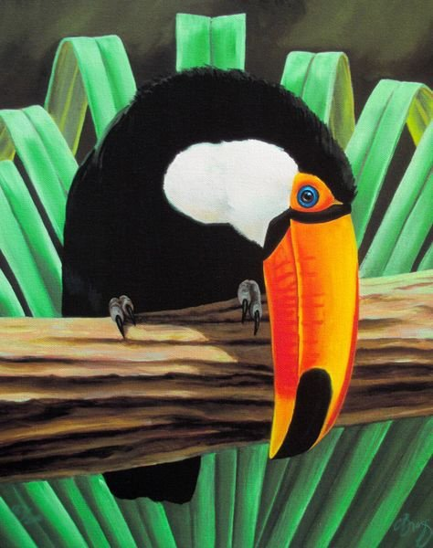 CHARLES LYNN BRAGG TOUCAN HAND SIGNED LIMITED ED.