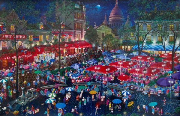 ALEXANDER CHEN A NIGHT IN MONTMARTRE LIMITED ED. HAND