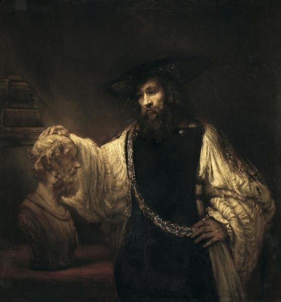 REMBRANDT VAN RIJN  - ARISTOTLE WITH A BUST OF HOMER  -