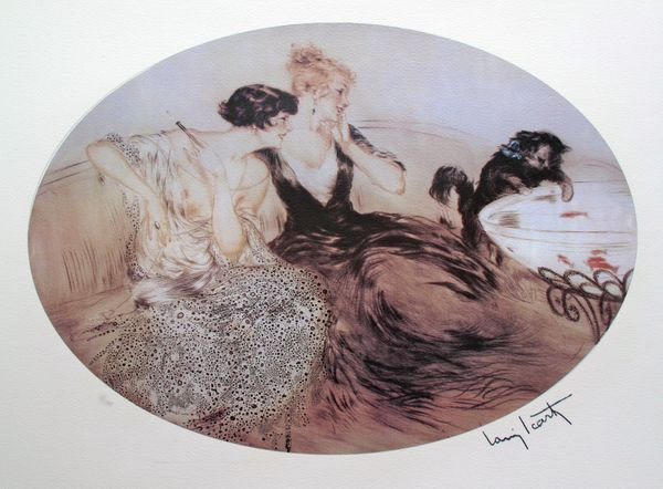 LOUIS ICART FISHING LIMITED ED. GICLEE