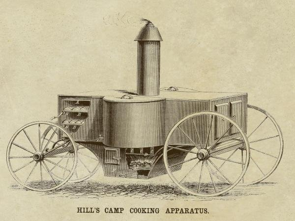 INVENTIONS -HILL'S CAMP COOKING APPARATUS - GICLÉE ON